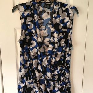 Lord & Taylor Tops - Lord & Taylor Woman Blue/gray/black shell